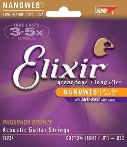 Elixir Nanoweb - 11er Satz Akustikgitarre