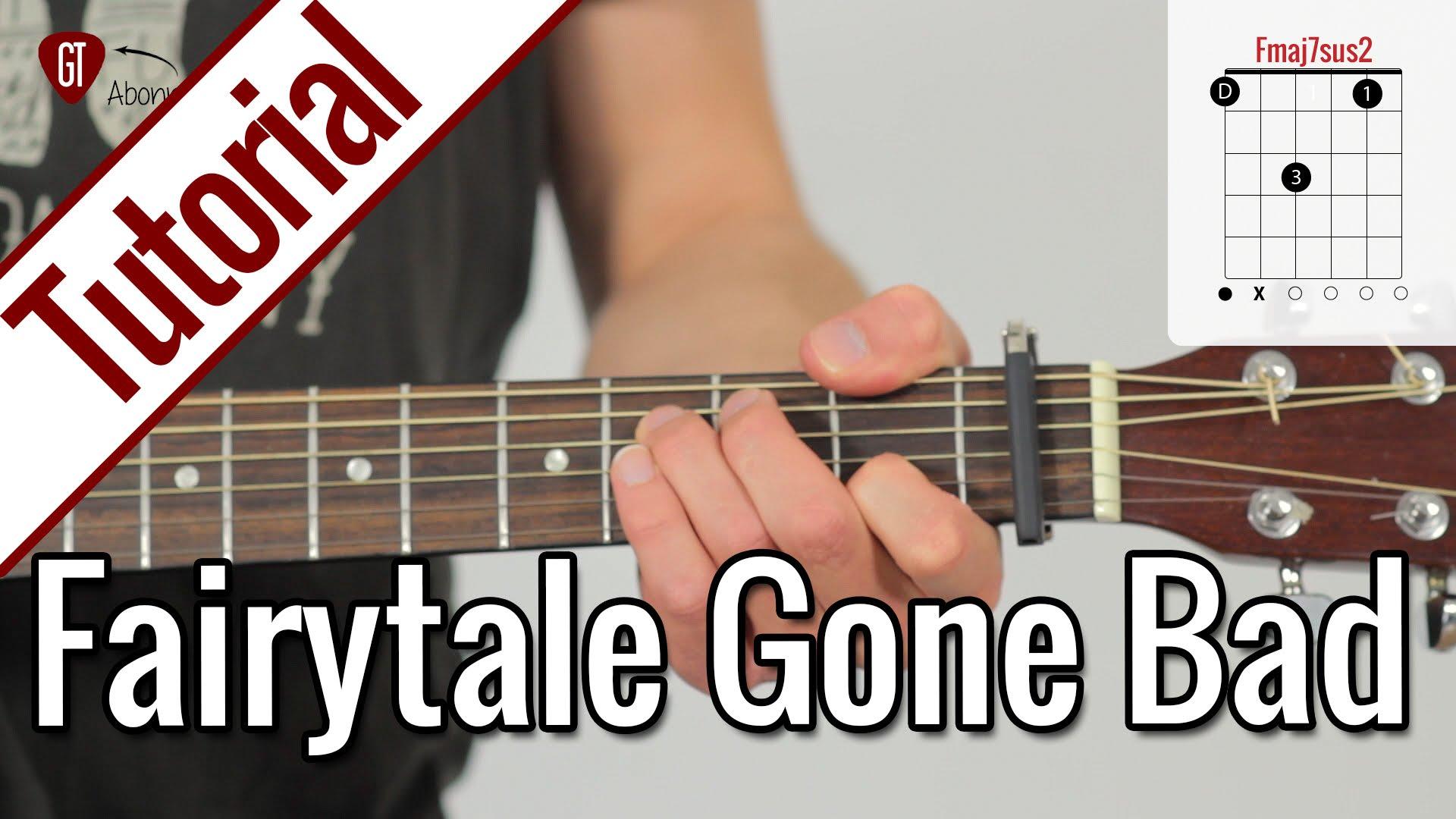 Sunrise Avenue – Fairytale Gone Bad   Gitarren Tutorial Deutsch