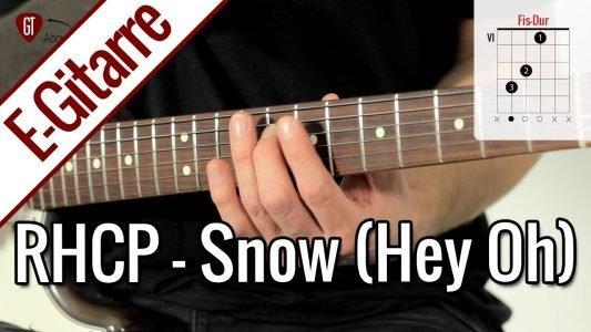 Red Hot Chili Peppers – Snow (Hey Oh) | E-Gitarren Tutorial Deutsch