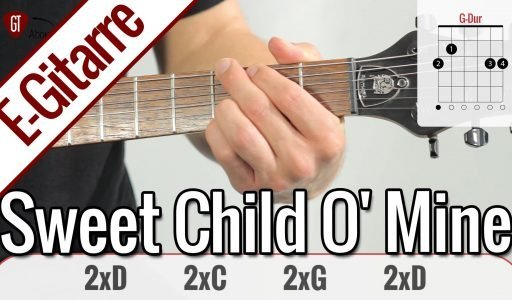 Guns N' Roses - Sweet Child O' Mine | E-Gitarren Tutorial