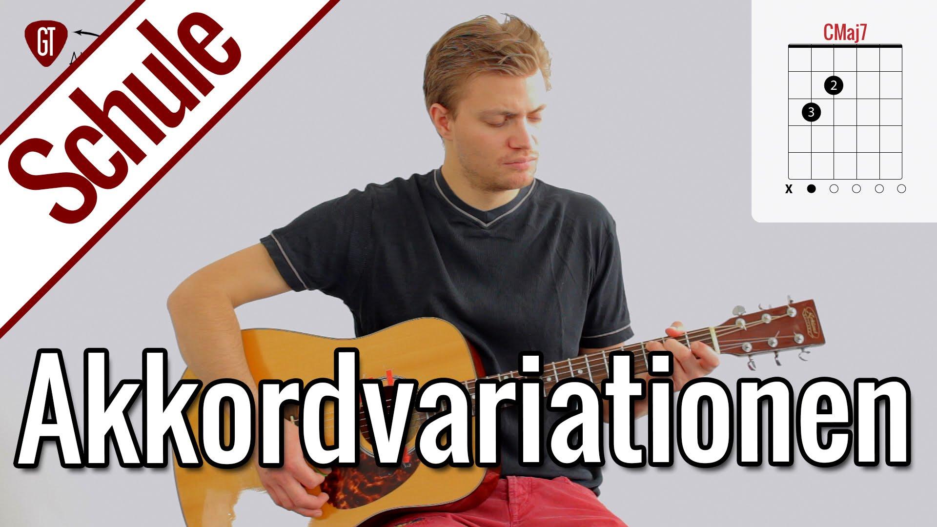 Gitarre lernen – Sechste Gitarrenstunde: Coole Akkorde / Akkordvariationen | Gitarrenschule