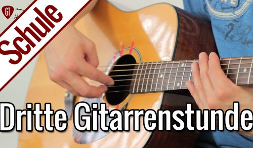 Gitarre lernen – Dritte Gitarrenstunde: Zupfen lernen | Gitarrenschule