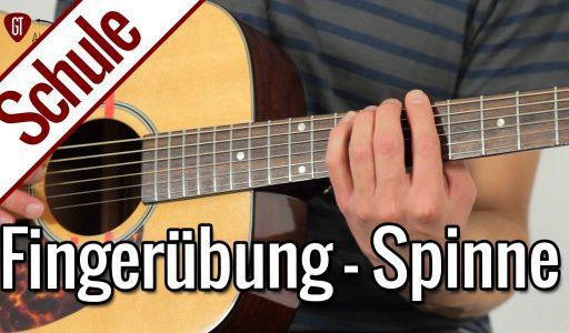 Die Spinne – Beste Fingerübung für lockere Finger   Gitarrenschule