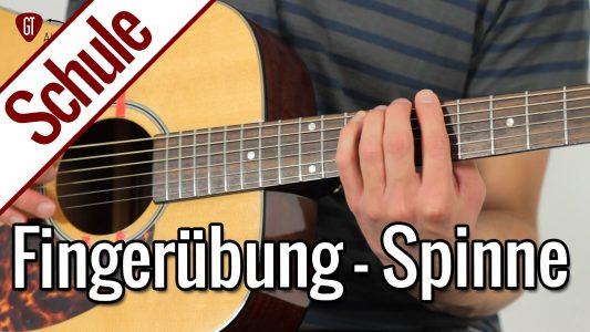 Die Spinne – Beste Fingerübung für lockere Finger | Gitarrenschule