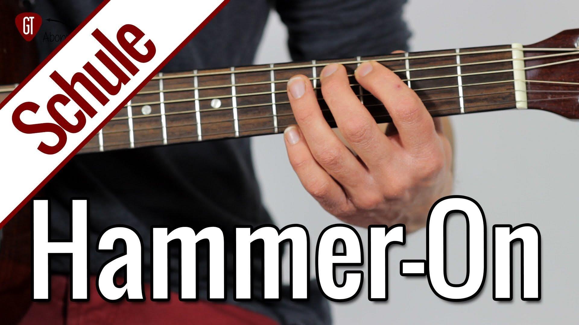 Hammer-On | Gitarrenschule