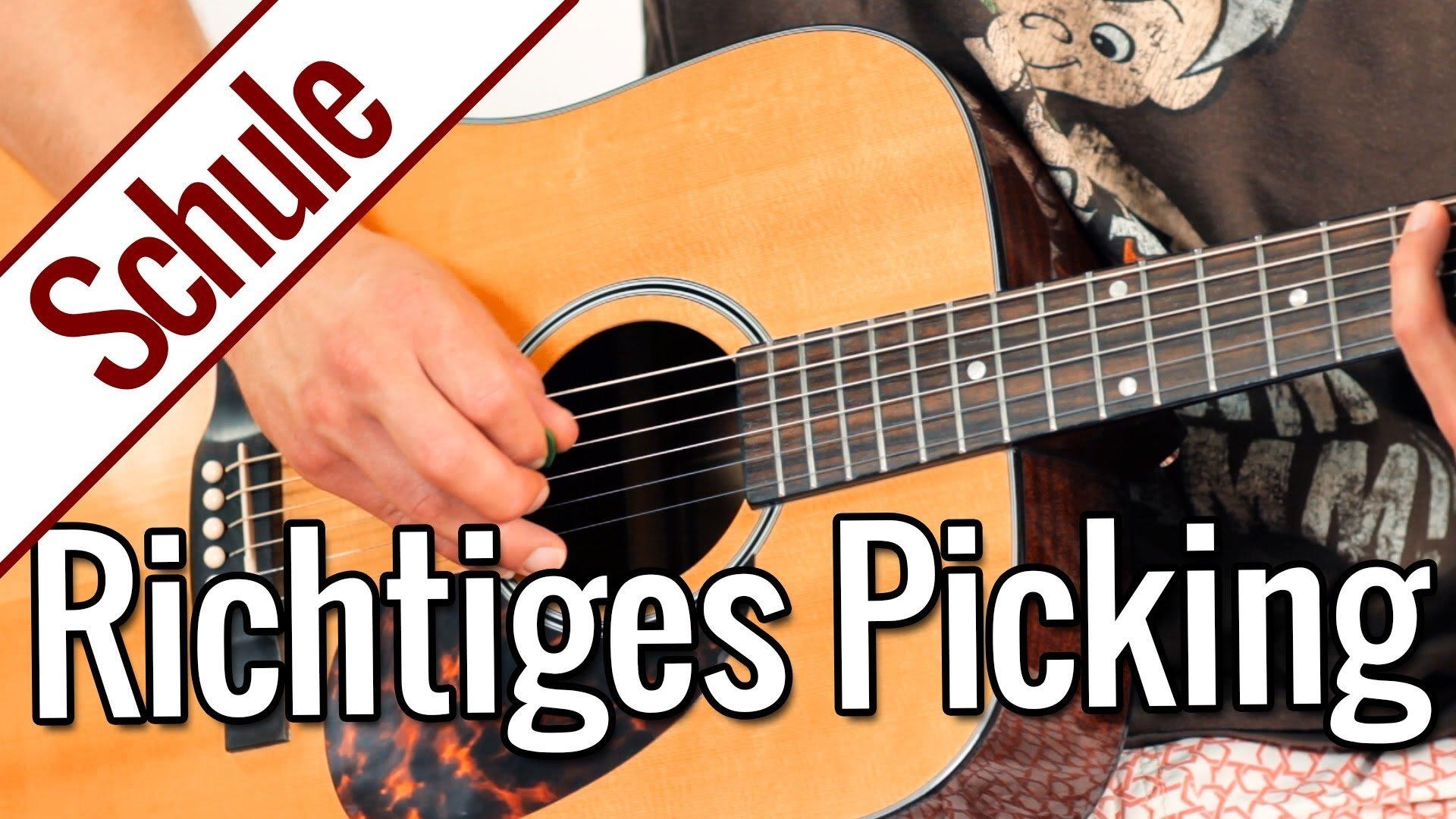 Richtiges Picking mit Wechselschlag – Tonleiterspiel | Gitarrenschule