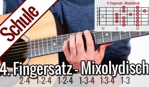 4. Fingersatz Mixolydisch – Tonleiterspiel | Gitarrenschule