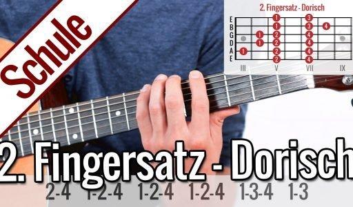 2. Fingersatz Dorisch – Tonleiterspiel | Gitarrenschule