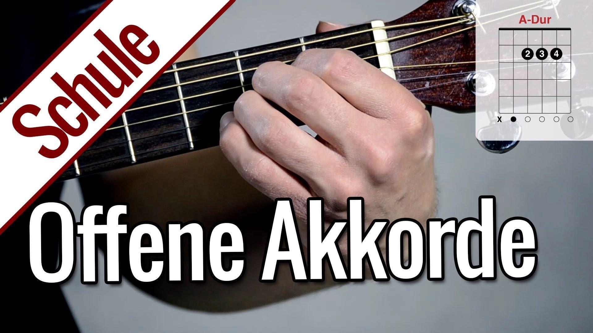 Offene Akkorde | Gitarrenschule