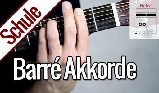 Barré Akkorde | Gitarrenschule