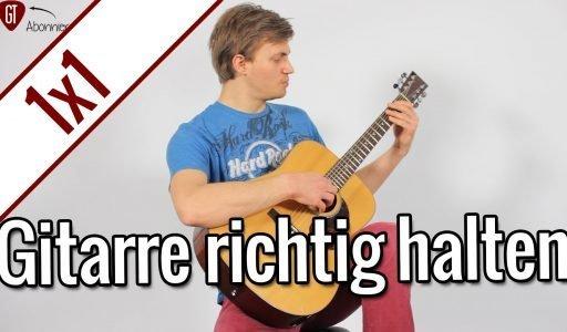 Gitarre richtig halten | Gitarren 1×1