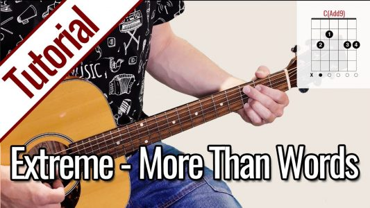 Extreme – More Than Words | Gitarren Tutorial Deutsch