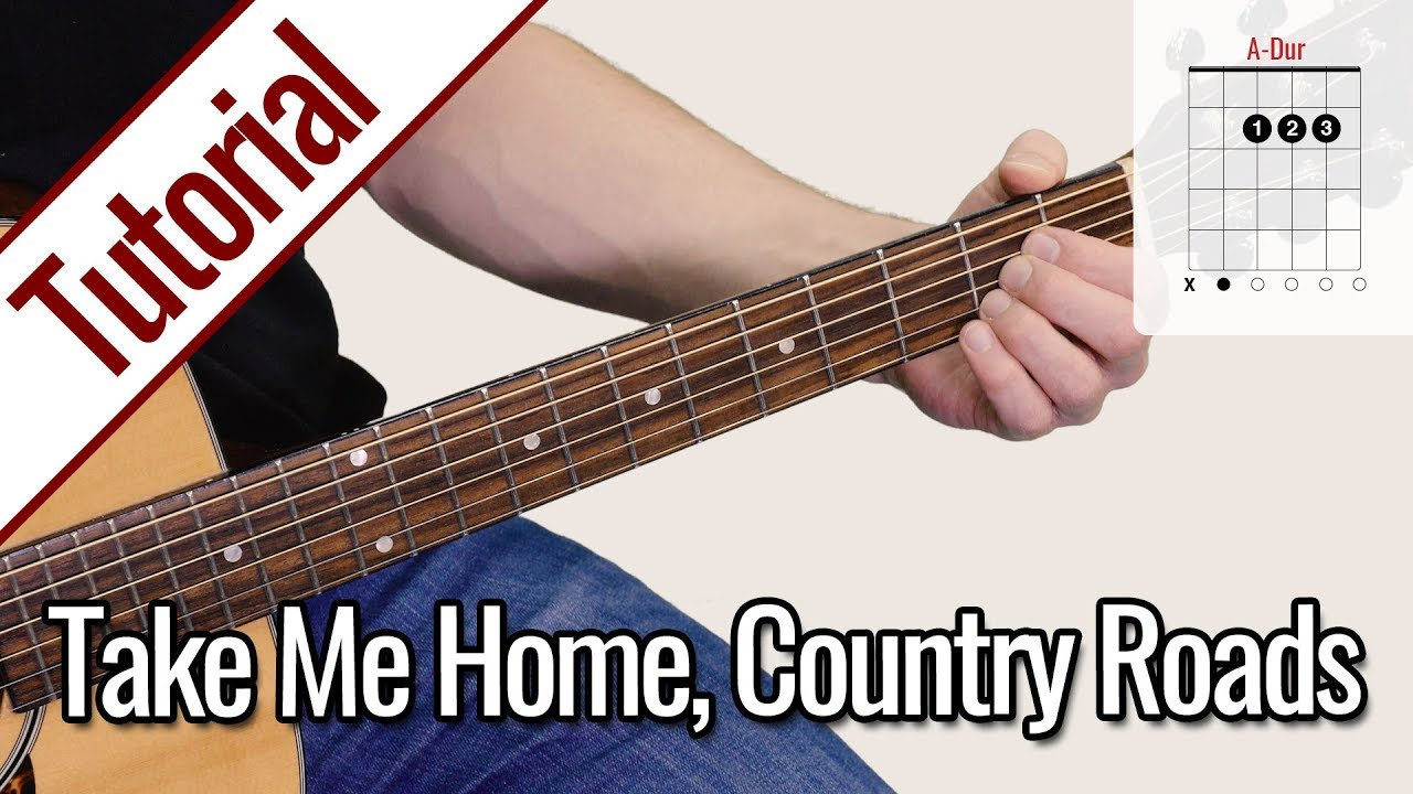 John Denver – Take Me Home, Country Roads | Gitarren Tutorial Deutsch