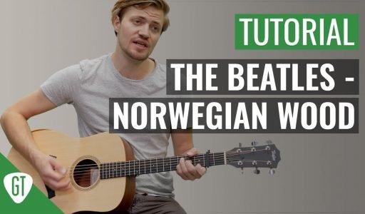 The Beatles – Norwegian Wood | Gitarren Tutorial Deutsch