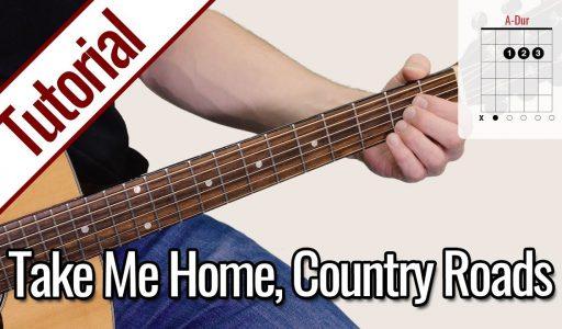 John Denver – Take Me Home, Country Roads | Gitarren Tutorial Deutsch