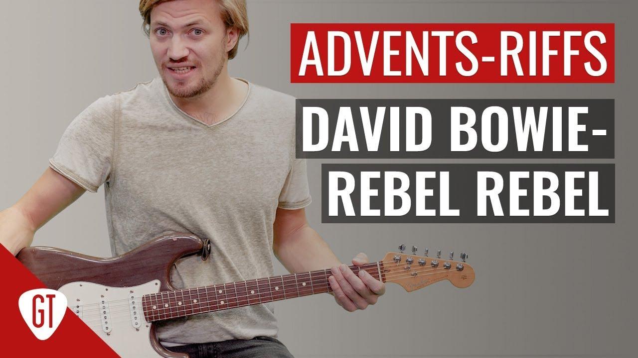 David Bowie – Rebel Rebel   Riff Tutorial Deutsch