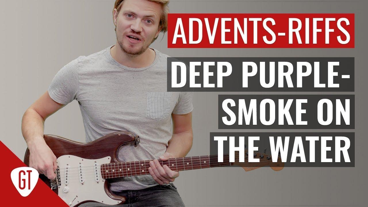 Deep Purple – Smoke On The Water   Riff Tutorial Deutsch