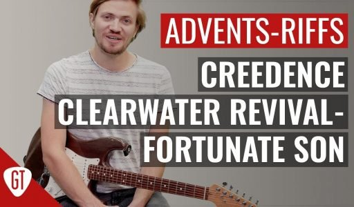 Creedence Clearwater Revival – Fortunate Son   Riff Tutorial Deutsch